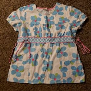 Flower Scrub top